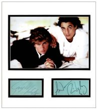 Wham! Autograph Signed Display - George Michael